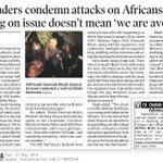 AAP leaders condemn attacks on Africans, say not tweeting on issue doesnt mean we are avoiding it https://t.co/NCYI2fq0ti