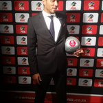 Shu- aib Walters collects Top Goal Scorer on behalf of the man who made it happen again; Collins Mbesuma #PSLAwards https://t.co/nEMsehdorC
