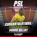 Footballer of the Season: Khama Billiat (R250 000) #SLLive https://t.co/vhTQM6HHFC
