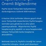 Sen çalışır PayPal Apisi yazarsın bir bakarsın PayPal lisansı gitmiş. Türkiyede ciddi bir Web ekonomisi imkansız. https://t.co/2Zse6eZbRd