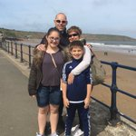 Happy times at Filey beach today #BankHolidayMonday #family #beachday https://t.co/a9ej8VvFs2