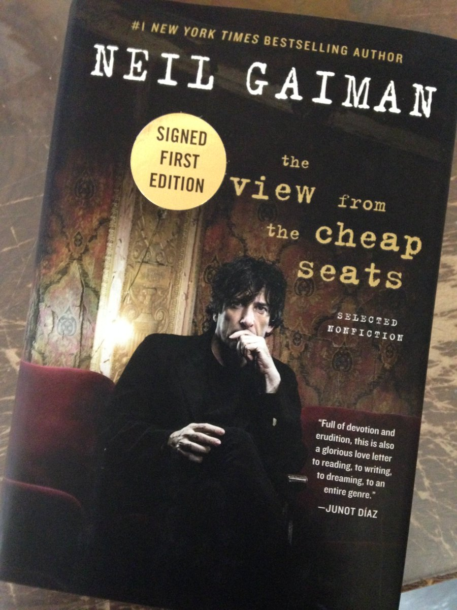 Signed copies of @neilhimself's new non-fiction collection will be on our shelves tomorrow! https://t.co/cSXdRuU3tW