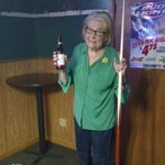 Its @MarilynHagertys 90th birthday. Shes slamming a Budweiser and playing pool at The Hub. #legend https://t.co/AKnI2QbKTq