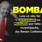 """#TeoriDevolveOLula """"Lula sabotou o mensalão, conta Renan Calheiros em grampo"""" https://t.co/I6WhKyvCfT"""