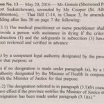 Liberals now defeat C14 amendment requiring prior review by a competent legal authority before someone can be killed https://t.co/NIfrL0P2HR