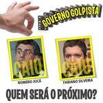 DOMINÓ DO GOLPE 1. #RomeroJucá 2. #FabianoSilveira Quem será o próximo? Façam suas apostas! #DominóDoGolpe https://t.co/8DTDo8VlSE