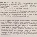 """The first fundamental freedom in Charter of Rights is """"freedom of conscience.""""  The Liberals just voted against it. https://t.co/jobIqQA286"""