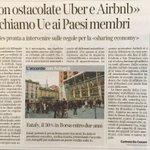 Non ostacolate #Uber e #Airbnb Il richiamo UE ai paesi membri #news @corriere https://t.co/ki2B1aL3Gr