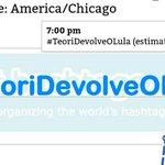 Hashtag #TeoriDevolveOLula atingiu mais uma vez a marca de 10 mil repetições hora!! E já passa de 50 mil menções!! https://t.co/dZqveL0rzA