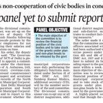 AAP govt panel yet to submit report on MCDs Main Reason : Non-cooperation of the civic agencies https://t.co/sapWxAqQtD