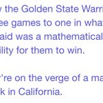 .@BernieSanders will be attending the @warriors game tonight, confirmed by the campaign. His spox said to the press: https://t.co/dR8Rn2N1Sl