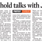AAP government may hold talks with Jat leaders https://t.co/btcJrTespe