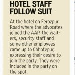 Punjab At a Hotel where More than 100 Lawyers Joined AAP, Hotel staff follow suit https://t.co/b30QFEgfKo
