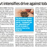 Govt intensifies drive against tobacco https://t.co/xb0k872XkD
