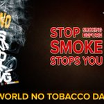 On this World No Tobacco Day Say Yes to life No to Tobacco https://t.co/Dxdt9glcV7