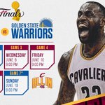 Its official. See you Thursday, @warriors. #ALLin216 https://t.co/AsZRwXl3s1