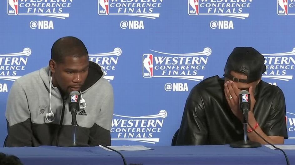 The disrespect in this press conference came back to hurt them ... Stay humble Westbrook.. Who laughing now?  Lol https://t.co/TdladglGUR