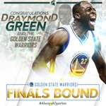 Draymond Green and the @warriors are heading to the #NBAFinals for the second-straight season. https://t.co/qUU0Yz89nQ