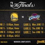 See you Thursday, @cavs. #NBAFinals https://t.co/8tObOBga59