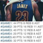 LeBrons numbers in last years Finals in case anyone forgot! 👑 https://t.co/AVHxNlIk2K