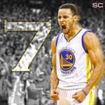 Steph Currys 7 threes are the most ever in a Game 7. https://t.co/v9RMfQk8Ky