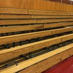 Sad day tomorrow as the wooden bleachers get removed from the main gym. The Doc will never be the same. #Tradition https://t.co/IiI8EByckD