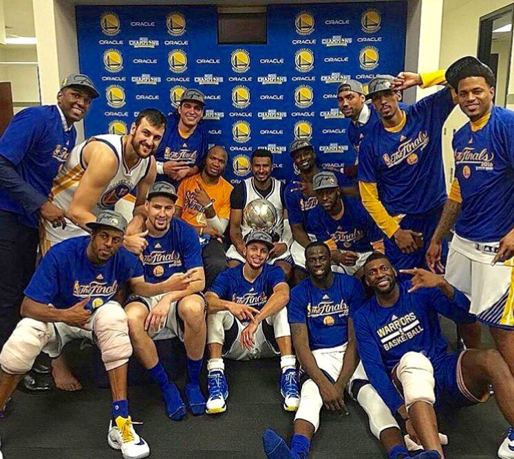 Never underestimate the heart of a Warrior!   #WesternConferenceChamps #StrengthInNumbers #WeWantMore  #NBAFinals https://t.co/vPbvvwfGY6