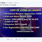 Fox News crunched some numbers to show U.S residents what it would cost to jump the boarder.HA @Kirby_pk #yeg https://t.co/9RhNQHuwt8