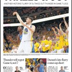 One last headline in this #okcthunder playoff run by @TheOklahoman sports team. https://t.co/6OGTuaMIby