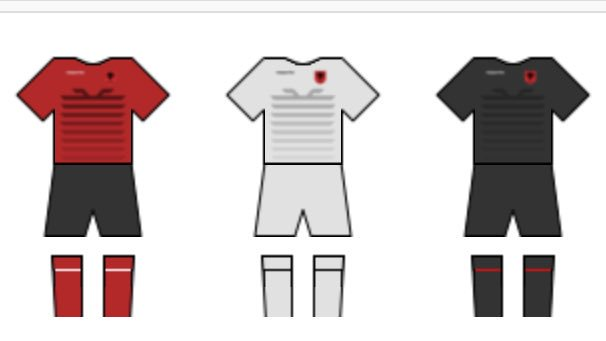#Albania NT confirmed the use of jerseys at @EURO2016 matches.  Red vs