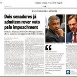 Chantagem? Romário (PSB-RJ)e Acir Gurgacz(PDT-RO), já admitem rever voto pelo impeachment https://t.co/ThuLRAPMFa https://t.co/8SqN0aBvLq