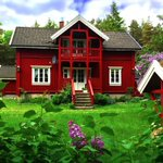 I dream of... a little red wooden #house in the Norwegian countryside ???? © Marie Peyre #summerhouse #Norway #home ???? https://t.co/6VAoL8devF