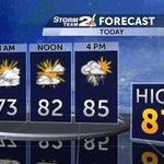 Very warm and humid today with highs in the mid to upper 80s. Watch for scattered storms. #chswx @WCBD https://t.co/4jmuXV58Mx