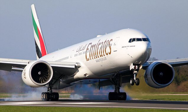 Emirates flight forced to land due to suspected cocaine