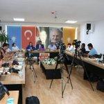 İl Başkanlığımiz da basın mensuplarıyla gündemi değerlendirdik@MevlutCavusoglu  @rizasumer @eskaynak @menderesturel https://t.co/N84APrhluF