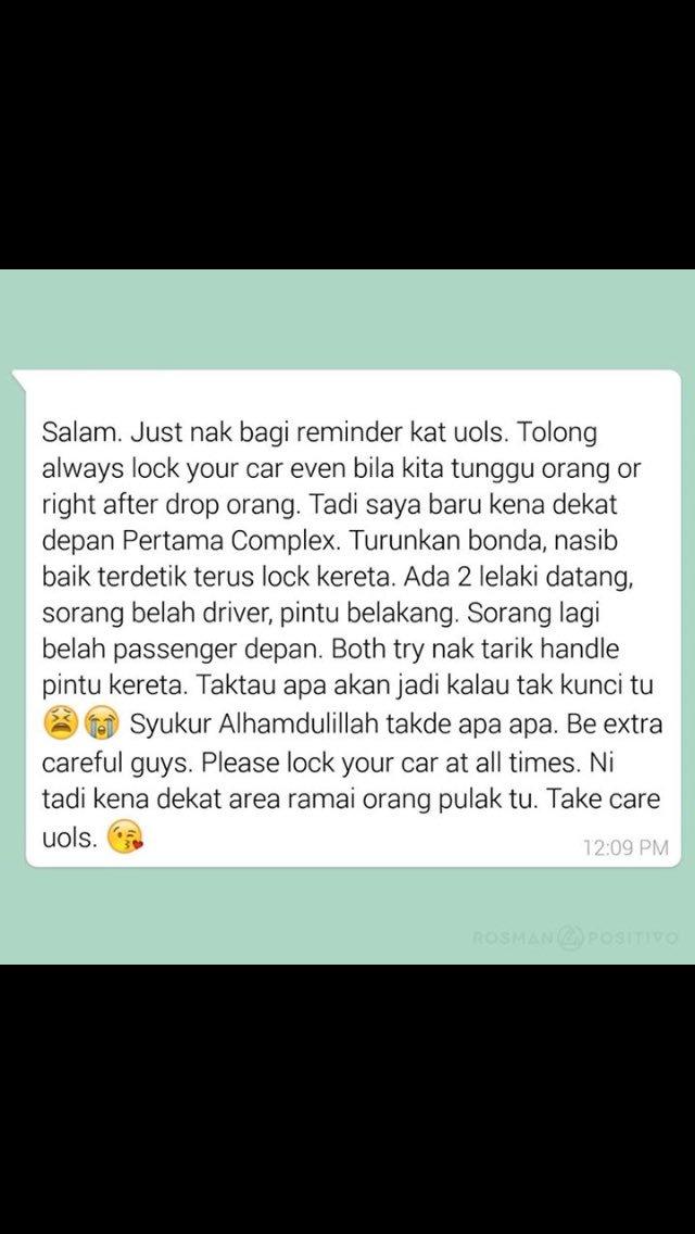 Berhati hati la semua especially perempuan