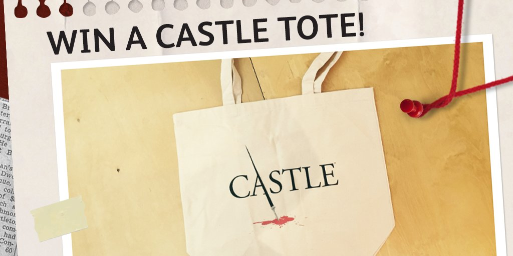 Win 1 of 12 #Castle tote bags! Just RT & follow us by 31/05 10pm tonight to enter. T&Cs: https://t.co/8arGgBxaGa https://t.co/ONdWvq6N6x