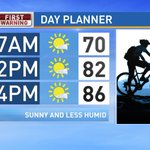 Back to the grind... at least well have pleasant weather. #WakeUpRightCBS21 https://t.co/3Gj0Tmo0ys
