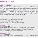Les prévisions de trafic de la #SNCF pour #MidiPyrénées 80% de #TER assurés 2 #TGV #Toulouse #Paris AR #grevesncf https://t.co/IR3OonM1oy