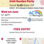 Join us tomorrow for this great garden party! #ILAS building @nuigalway  #suncream  #sunnies  #galway  @Saolcafe https://t.co/OJYPx3apTw