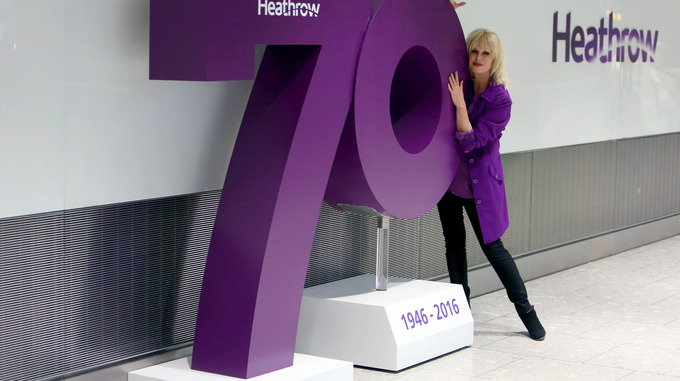 RT @itvlondon: Joanna Lumley helps Heathrow celebrate 70th anniversary