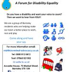 Are you disabled and want your voice heard? Check out My Barnsley Too! #barnsleyisbrill https://t.co/NMbBmbfrDk