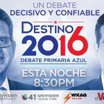 Hoy a partir de las 8:00 p.m. Rosselló y Pierluisi se enfrentarán para exponer sus ideas en el #debateazul https://t.co/i9opSoGGbc