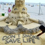 My sand sculpture Don t Smoke Save Life at usa in 2013, #WorldNoTobaccoDay https://t.co/MVTypk1uLe