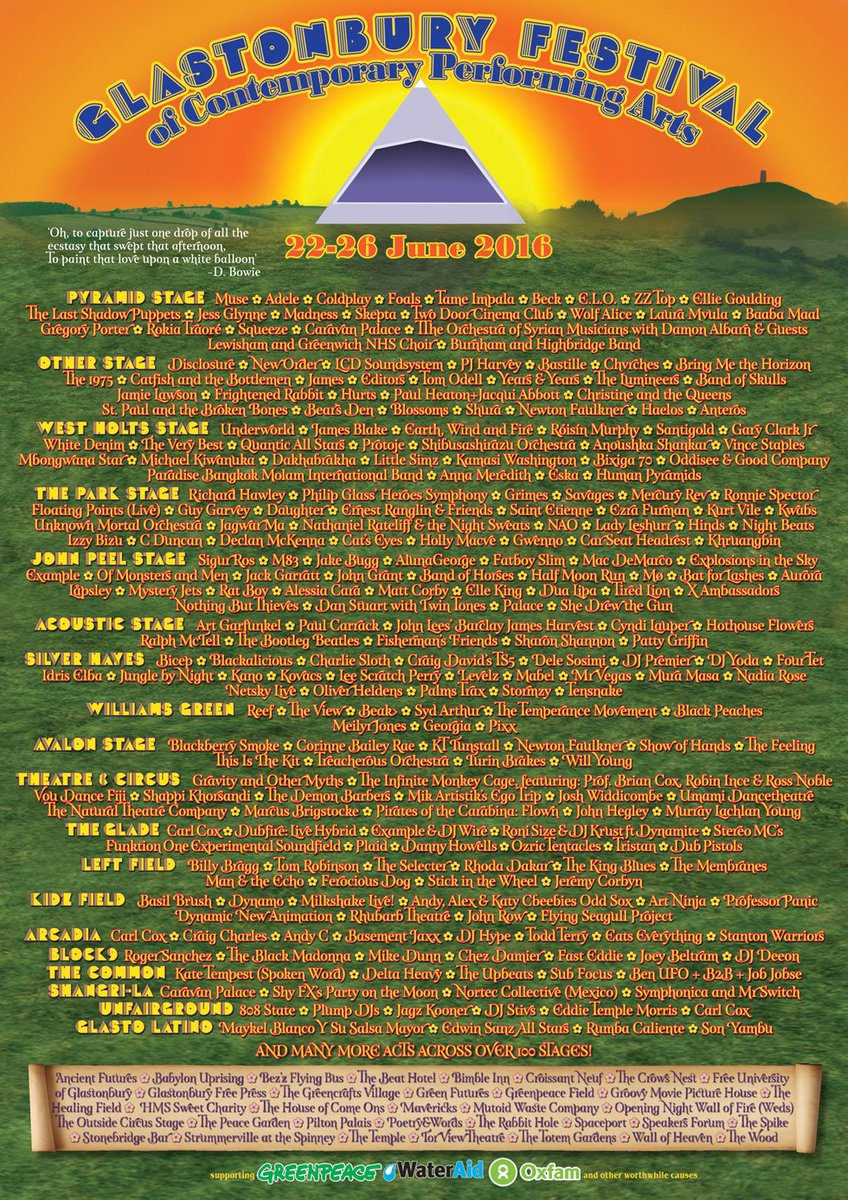@tameimpala announced on the @GlastoFest line-up! Pyramid stage! https://t.co/v400viliwP