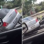 Driver appears to deliberately slam into a motorcycle in a shocking road-rage video https://t.co/B5dANYaw0E #florida https://t.co/VFHcBqEko0