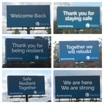 Six new signs set up overnight along Hwy 63 to welcome people home #ymm #ymmfire https://t.co/ZUJnBSWbBa