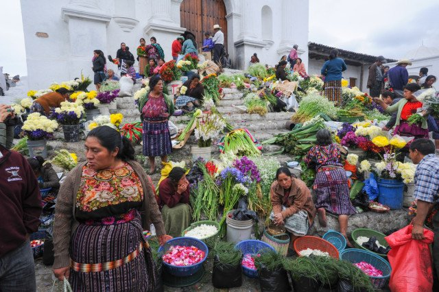 The fascinating Maya market of Chichicastengango, Guatemala.