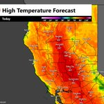 Today is the first day of the year with widespread triple digit heat forecast for interior #NorCal. #CAwx https://t.co/CV2EpzhaCy