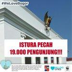 ISTURA PECAH ! Lebih dari 19.000 pengunjung Istana Bogor ! #WeLoveBogor #BogorSahate #HJB534 https://t.co/5F1fkhRuEC